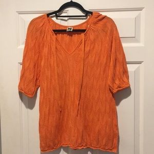 Missoni Orange Knit Blouse